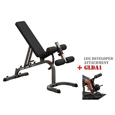 Body-Solid Heavy Duty Adjustable Flat Incline Decline Short Bench #GFID31 - GymBasis Store