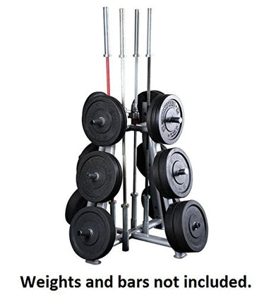 Body Solid SWT1000 ProClub Olympic Weight and Bar Holder with 4 Bar Holders and 2 Collar - GymBasis Store