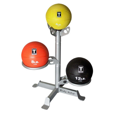 Body Solid GMR10PACK Body Solid Vertical Medicine Ball Rack with Included 6 Medicine Balls Up to 6 Medicine - GymBasis Store