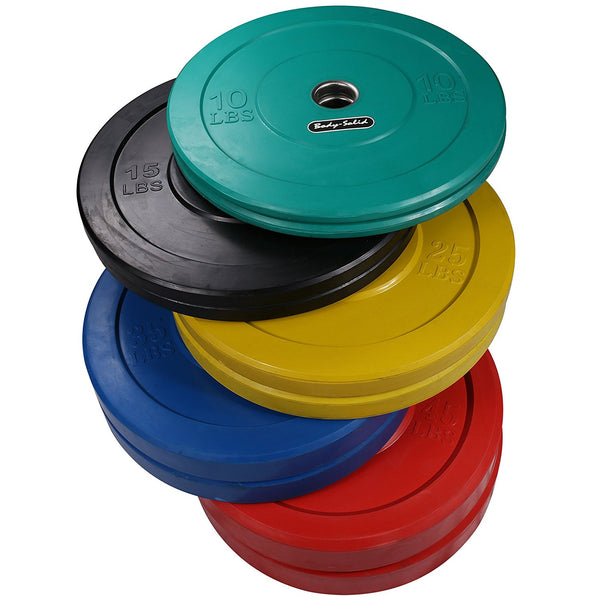 Body-Solid 260 lb. Package Colored Olympic Rubber Bumper Plates - GymBasis Store