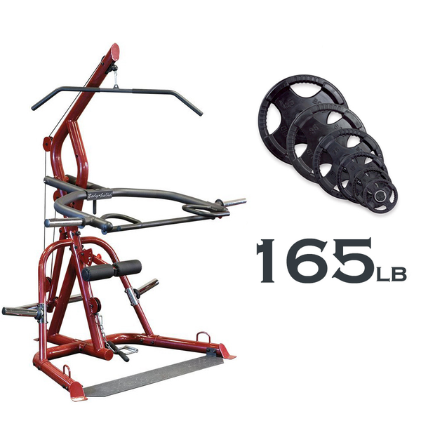 Body-Solid GLGS100 Corner Leverage Gym w/ Rubber Grip Plates - GymBasis Store
