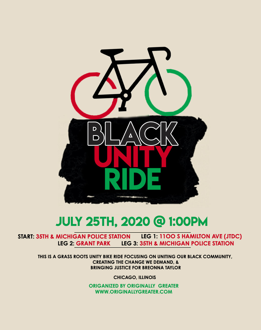 Black Unity Bike Ride DONATION