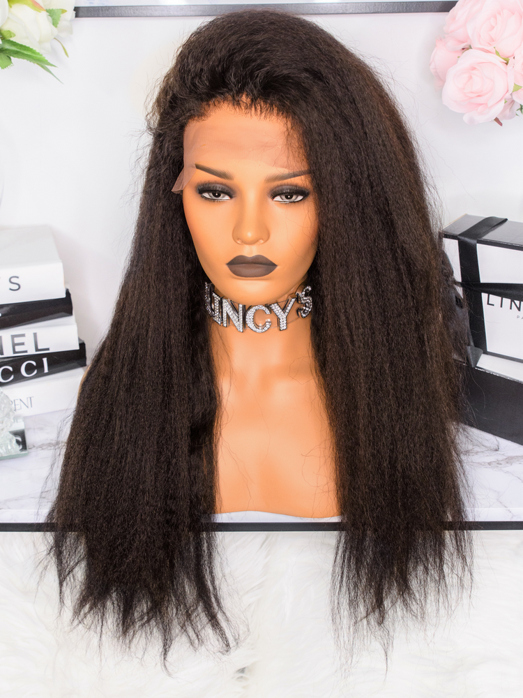 PERRUQUE - LACE WIG KINKY LISSE AFRO