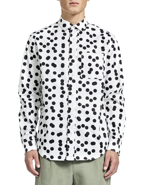 Henry Shirt - Dusen Dusen Double Dots Print - Shirts - By Ddugoff