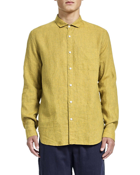 Henry Shirt - Yellow Linen - Shirts - By Ddugoff