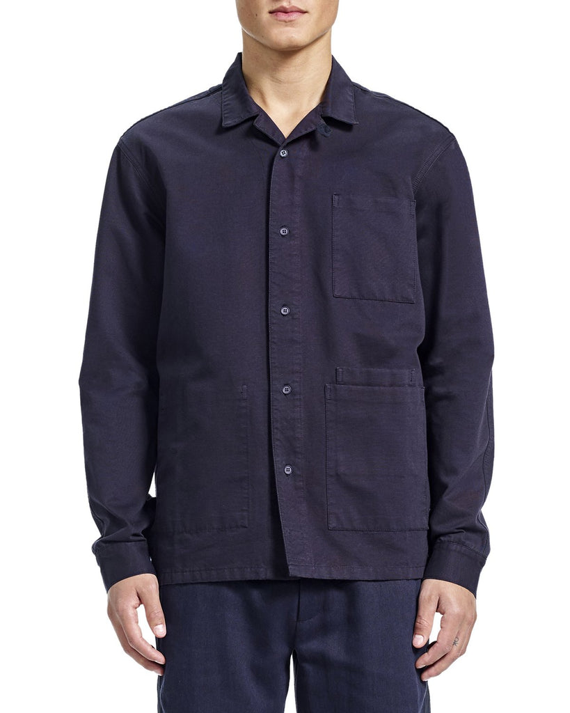 Nick Overshirt - Navy Grosgrain - Shirts - By Ddugoff