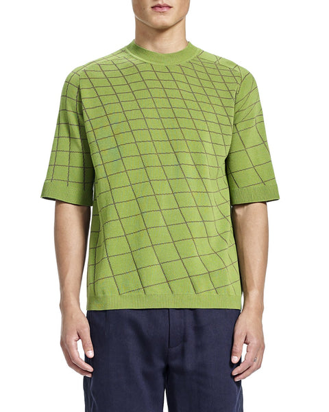 Noah Grid Sweater - Green
