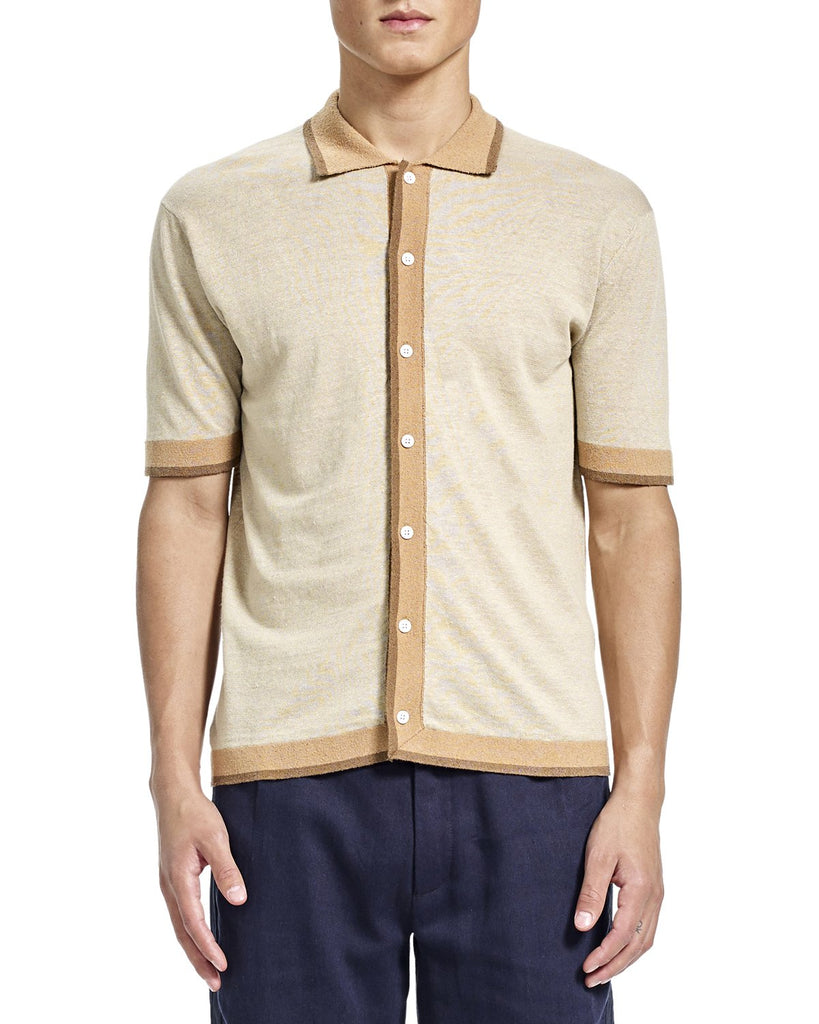 Aaron Polo - Beige - Sweater - By Ddugoff
