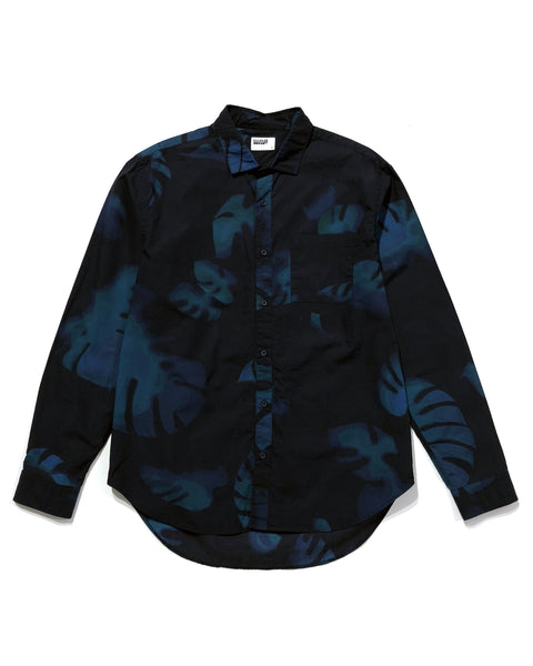 Henry Shirt - Night Monstera