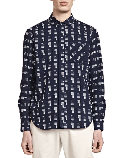 Henry Shirt - Navy Follies - Shirts - By Ddugoff