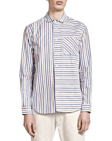 Henry Shirt - Stripe Shirting - Shirts - By Ddugoff