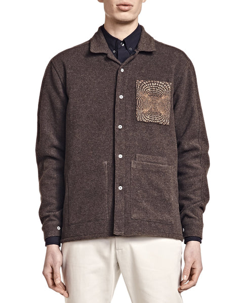 Nick Overshirt - Morel Wool - Shirts - By Ddugoff