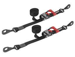"SpeedStrap 1.5"" x 10"" Ratchet Tie-Down (2 pack) - Black"