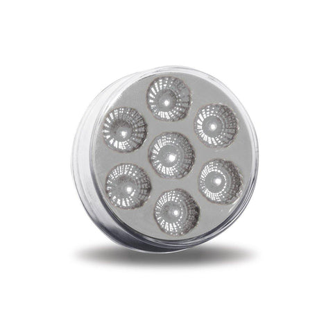 "2.5"" Dual Revolution Red Marker to White Auxiliary Round LED Light - Bones Custom Creations"