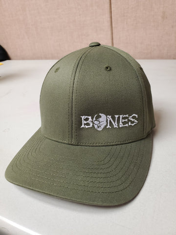Green Bones Flexfit Hat - Standard bill with white logo