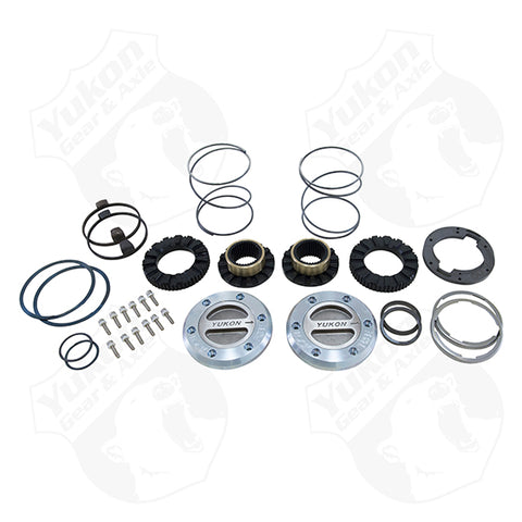 YUKON HARDCORE LOCKING HUB SET FOR 2000-2017 DODGE 3/4 & 1-TON FRONT WITH SPIN FREE KIT