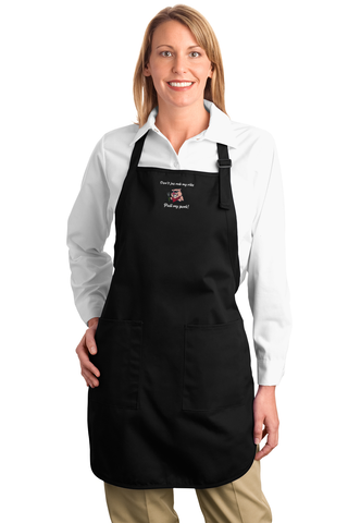 Don't Jus Rub My Ribs Pull My Pork! Full Length Apron With Pockets