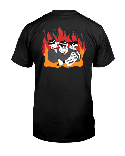 The Smokin Meat Mafia Front/Back Logo T