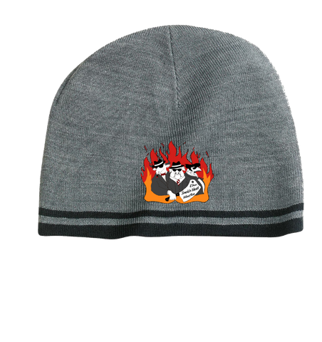 The Smokin Meat Mafia Firey Scull Cap