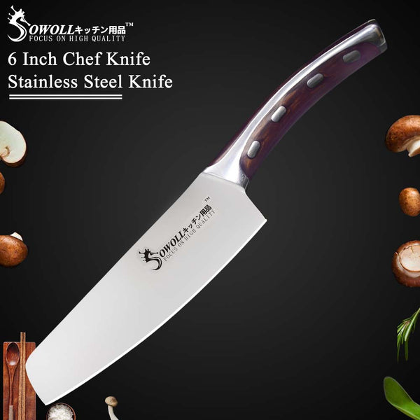 Sowoll Japanese Stainless Steel 6 inch Chef Knife