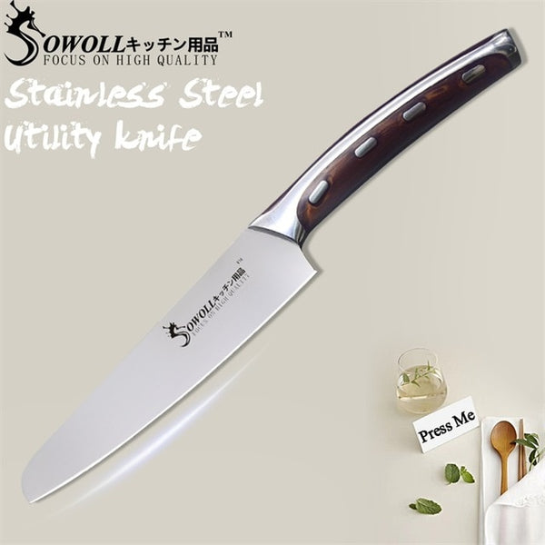 Sowoll 4CR14 3 Piece Stainless Steel Kitchen Knife Set