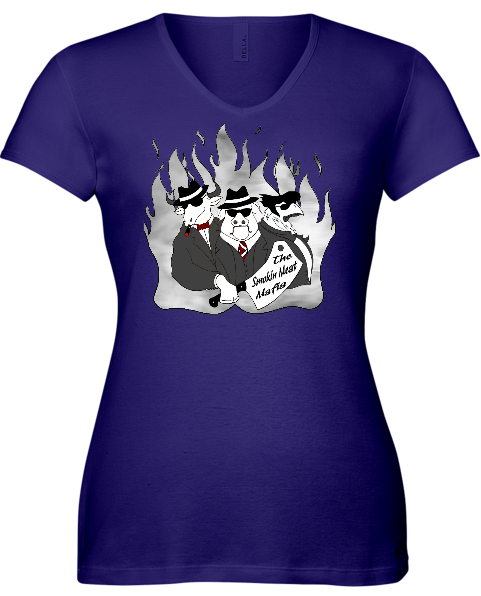 The Smokin Meat Mafia Ladies Front Logo T