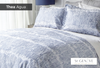Thea Agua - Duvet Cover - Reverse to Pattern