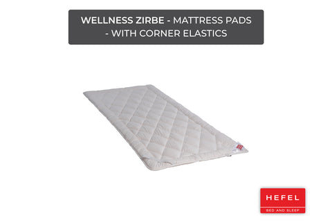 Wellness Zirbe - Mattress Pads - with corner elastics