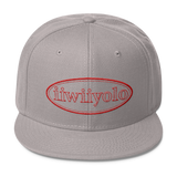 Wool Blend Snapback - Red iiWiiyolo Oval Label - iiwiiyolo Clothing