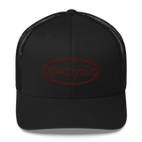 Trucker Cap - Maroon iiWiiyolo Oval Label - iiwiiyolo Clothing