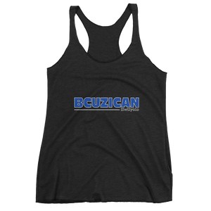BCUZICAN Women's tank top - blue with white outline - iiwiiyolo Clothing