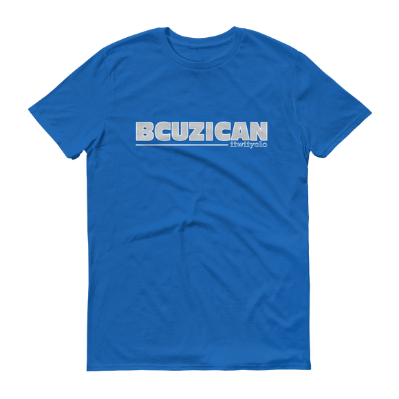 BCUZICAN Short sleeve t-shirt - silver with white outline - iiwiiyolo Clothing