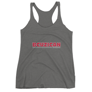 BCUZICAN Women's tank top - red with white outline - iiwiiyolo Clothing