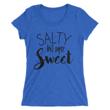 SALTY but super Sweet - Ladies' white short sleeve t-shirt - iiwiiyolo Clothing
