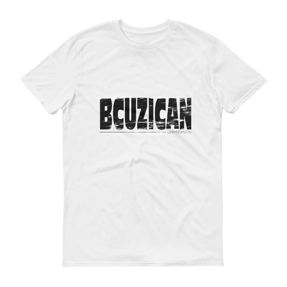 Black Grunge BCUZICAN Unisex white short sleeve t-shirt - iiwiiyolo Clothing