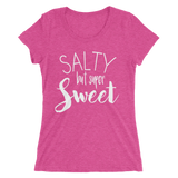 SALTY but super Sweet - Ladies' black short sleeve t-shirt - iiwiiyolo Clothing