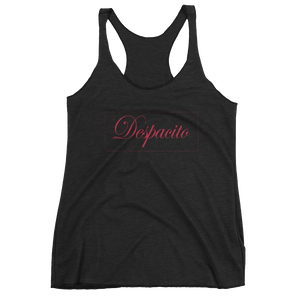 Despacito - Ladies black racerback tank top - iiwiiyolo Clothing