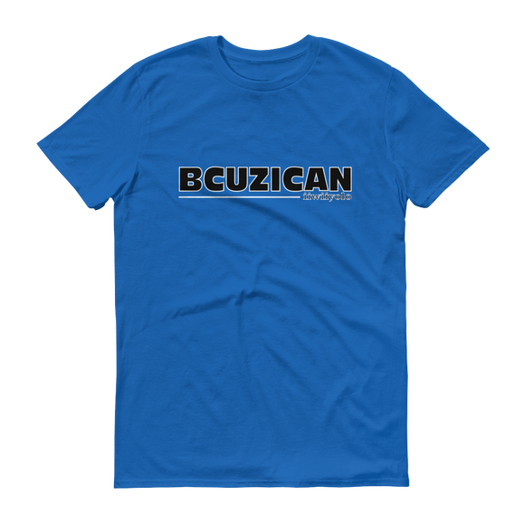 BCUZICAN Short sleeve t-shirt - black with white outline - iiwiiyolo Clothing