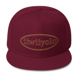 Wool Blend Snapback - Gold iiWiiyolo Oval Label - iiwiiyolo Clothing