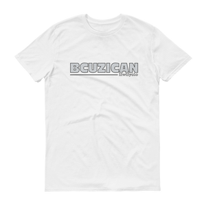 BCUZICAN Short sleeve t-shirt - silver with black outline - iiwiiyolo Clothing