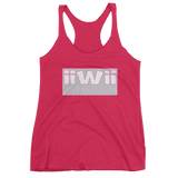 """iiwii - You Only Live Once"" Women's Pink & Grey Tank Top - iiwiiyolo Clothing"