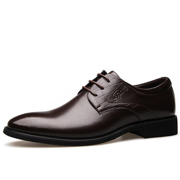 Men Oxfords, Lace-Up Business Men Shoes,