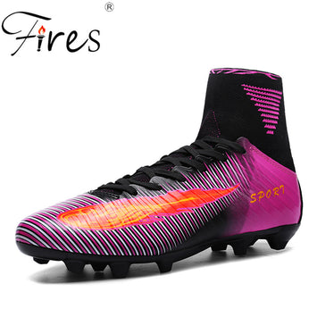 Shoes Leather Soccer Boys Football Boots
