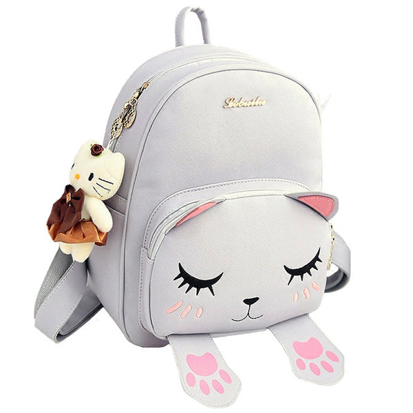 Cat Fun Quality PU Leather Fashion Women