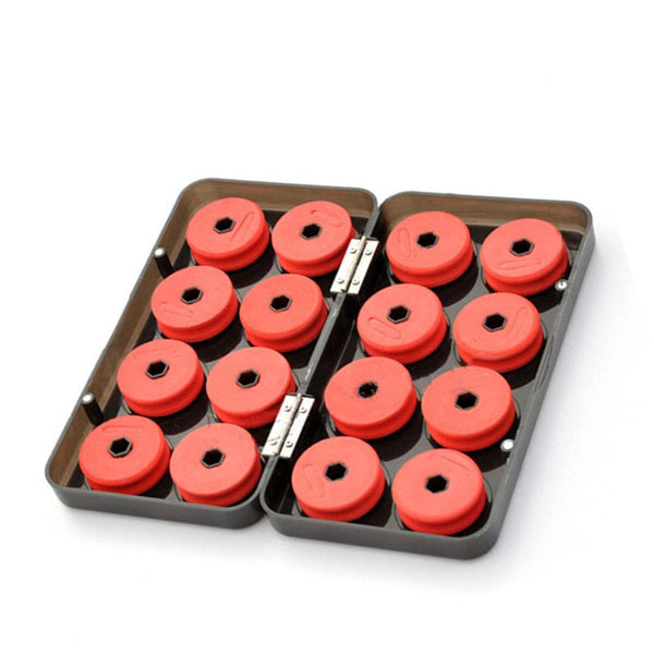 Shaft Bobbin Spools Tackle Box Red Utility