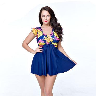 Swimwear Floral Print One Piece Suits