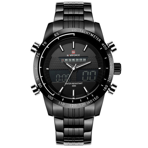 Waterproof Full Steel Watches Men's