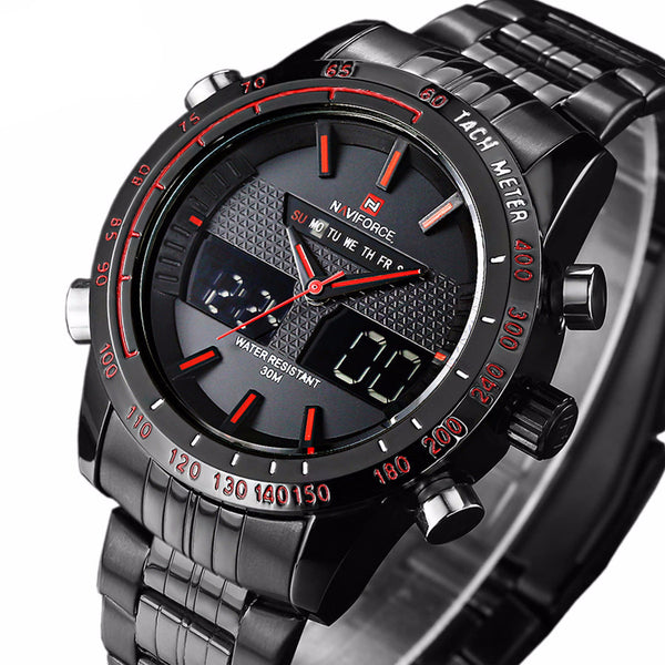 Waterproof Watches Men Full Steel Quartz Analog