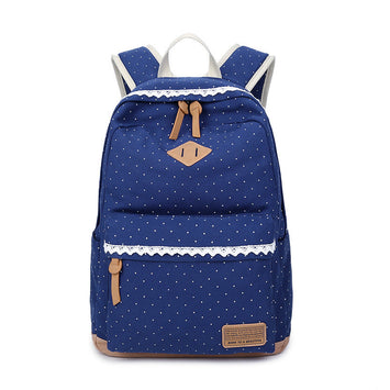 Middle school student bag Dot and  Lace Women