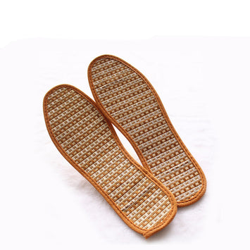 Hand-Woven Bamboo Charcoal Linen Insoles Sports